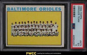 1964 Topps Orioles Team #473 PSA 5 EX