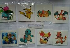 10 X Pikachu Temporary Tattoos Kids Birthday Party Bag fillers #Sticker  #Game