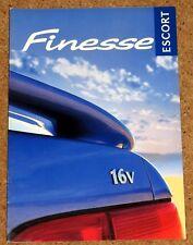 1998 FORD ESCORT FINESSE Sales Brochure - 1.6i 16V, 1.8TD