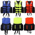 Polyester Adult Life Jacket Universal Swimming Boating Ski Foam Vest + Whistle