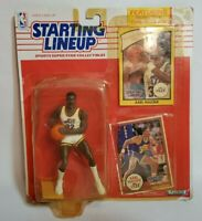 1990 Karl Malone Vintage Starting Lineup SLU Figure, with 2 Cards Basketball