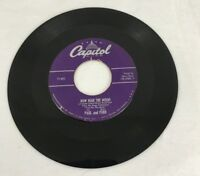 """Capitol Records Les Paul Mary Ford Vintage 7"""" Record 2 Songs 45RPM"""