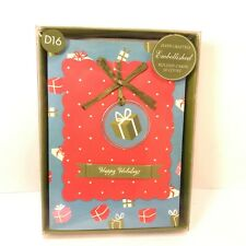 Anna Griffin 10 Handcrafted Embellished Christmas Cards With Envelopes