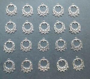 20 x Earring Chandelier Connector Findings, 20 x 24 mm, Jewellery Making, UK