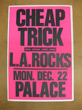 Cheap Trick The Palace Los Angeles 1986 Cardboard Concert Poster Nielsen Zander
