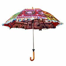 KKSM Decorative Designer Embroidery Cotton Event & Home Wedding Umbrella Décor
