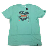Hurley Mens Graphic T Shirt Soft Floral Blue Green Variety Sizes