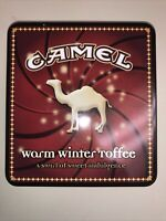 Vintage Camel Exotic Blends Warm Winter Toffee Advertising Cigarette Tin - EMPTY