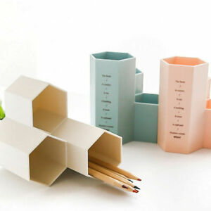 Makeup Brush Vase Pencil Pot Pen Holder Office Stationery Tidy Desk Storage