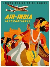 "India Art Vintage Travel Poster Print 12x16"" Rare Hot New XR169"