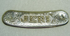 Sterling Silver With Gold ''JERI'' Belt, Saddle, Name Plate 139-0