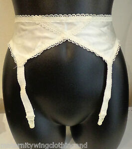 Brand New Cream Suspender Belt Sizes Small, Medium and Large