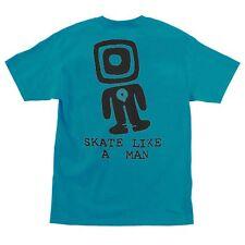 Powell Peralta Skate Like A Man Skateboard T Shirt Turquoise Xl