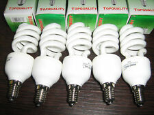 SET 10 LAMPADE BASSO CONSUMO 20 WATT = 100 W E14 LAMPADINA SPIRALE BIANCO FREDDO