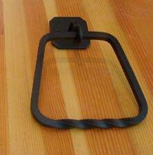 Towel Ring Black Wrought Iron DAKOTA 64022