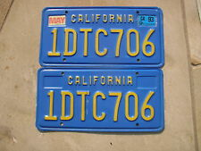1993 CALIFORNIA LICENSE PLATES 1DTC706
