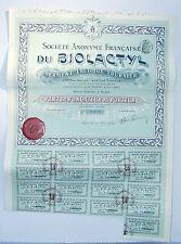 Paris - Pharmacie Superbe Décor Art Nouveau SA Française du BIOLACTYL de 1909