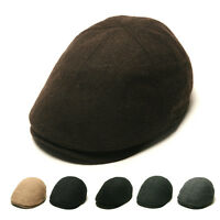Unisex Mens Womens Wool Flat Cap Ivy Winter Newsboy Cabbie Gatsby Driver Hats