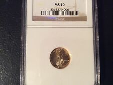 1987 GOLD EAGLE NGC MS70 WOW!! LOW POP