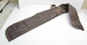 """Vintage APACHE 64"""" Vinyl Faux Leather Padded RECURVE LONGBOW CARRYING SOFT CASE"""