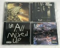 Korn Lot Of 4 CDs Follow The Leader Life Is Peachy Issues All Mixed Up