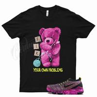 Black FIX T Shirt for Nike Air VaporMax Flyknit 3 Pink Blast Turquoise Volt