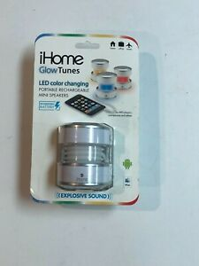 BRAND NEW iHome Glow Tunes LED Color Changing Portable Rechargeable Mini Speaker