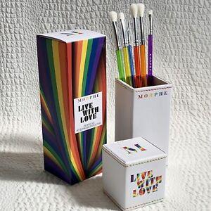 MORPHE Live With Love Eye Brush Set & Case NEW Genuine - 6 Brushes & Holder