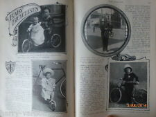 Baby Ciclista Bicicleta Ciclismo en tándem mundo mayor tienda viejo artículo 1899 Trask