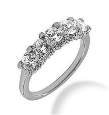 0.66 carat Round Diamond ring Wedding 14k White Gold Band F-G color Si1 clarity