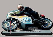 MOTO MINIATURE, MIKE HAILWOOD, HONDA, MOTO GP EN HORLOGE, 01