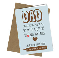 Greetings Card Comedy Rude Funny Humour Birthday or Fathers Day Dad Daddy #167