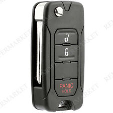 Replacement for Dodge 2007-2012 Caliber 2006-2007 Charger Remote Fob Flip Key