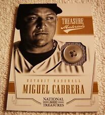 MIGUEL CABRERA 2012 PANINI NATIONAL TREASURES JERSEY BUTTON PATCH SERIAL #1/6