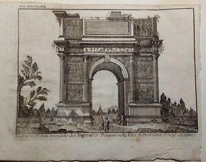 Incisione su rame Benevento: Arco 1700 (P368)