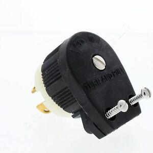 Cooper Angle Plug 2P 3W 15A 125V Black/White L5-15P CWL515PAN
