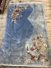 Antique Art Deco Dragon Chinese Size:210x125 Cm RUG CARPET Handmade