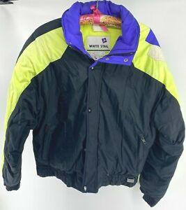 Vintage 90s White Stag Ski Jacket Colorblock Winter Sports Jacket Mens M