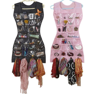 Double Sided Dress Hanging Jewellery Organiser Necklace Scarf Display Storage