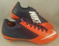 Nike Vapor Speed Low D Football Cleats Men's Size 11 Orange Navy Blue 668854-406