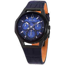 Bulova Curv Transparent Blue Dial Chronograph Quartz Men's Watch 98A232