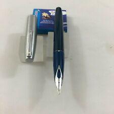 Raro Sheaffer Imperial 440 Azul Agarre Azul Oscuro Barril Grande Med cerca de amplio Nuevo