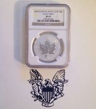 2004 1oz Canada $5 Silver Maple Leaf ~ D-Day Privy - NGC Brown Lable SP67