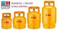 Bombola gas ricaricabile Eurocamping Kg 1 2 3 5 campeggio fornello barbecue