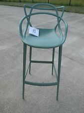 KARTELL MASTERS BAR COUNTER STOOL SAGE GREEN DWR DESIGNS WITHIN REACH $445