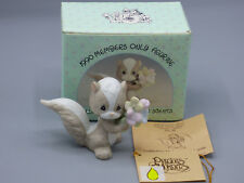 "Precious Moments ""Collecting Makes Good Scents"" BC-901 Skunk w/ Flowers 1990"