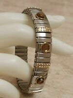 Smoky Quartz Bracelet SILVER Gemstone Jewelry 2ct Swarovski crystal bangle HMADE