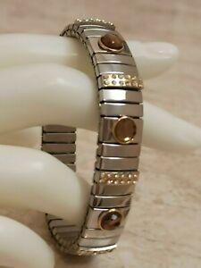 Smoky Quartz Bracelet SILVER Gemstone Jewelry 2ct Swarovski crystal bangle HMADE