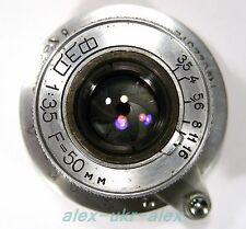 Russian FED 3,5/50 mm lens M39 FED Leica mount.Excellent.№022512