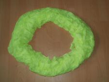 Damen Rundschal Loopschal Schlauchschal Halstuch neon-gelb-grün Umfang 160 cm